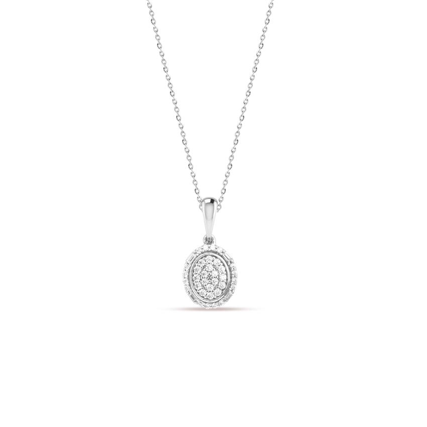 Diamond Necklaces 14 Karat White Gold Emma Charming Diamond Necklace