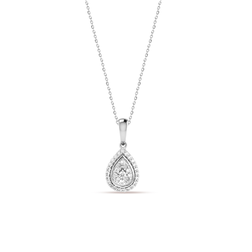 Diamond Necklaces 14 Karat White Gold Laila Graceful Diamond Necklace