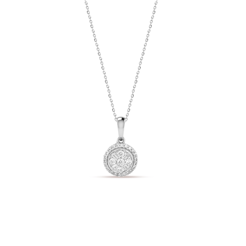 Diamond Necklaces 14 Karat White Gold Dina Gleaming Diamond Necklace