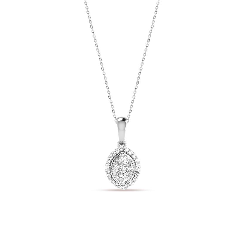 Diamond Necklaces 14 Karat White Gold Victoria Stunning Diamond Necklace