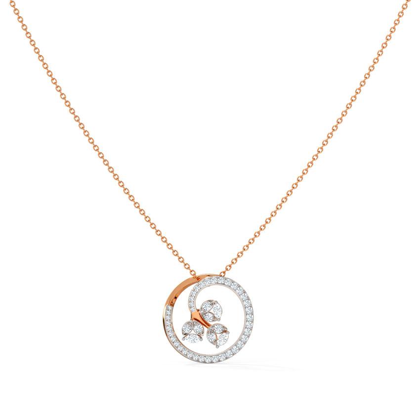 Diamond Necklaces 14 Karat Rose Gold Shay Diamond Pendant