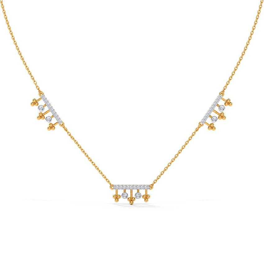 Diamond Necklaces 14 Karat Rose Gold Eira Diamond Necklace