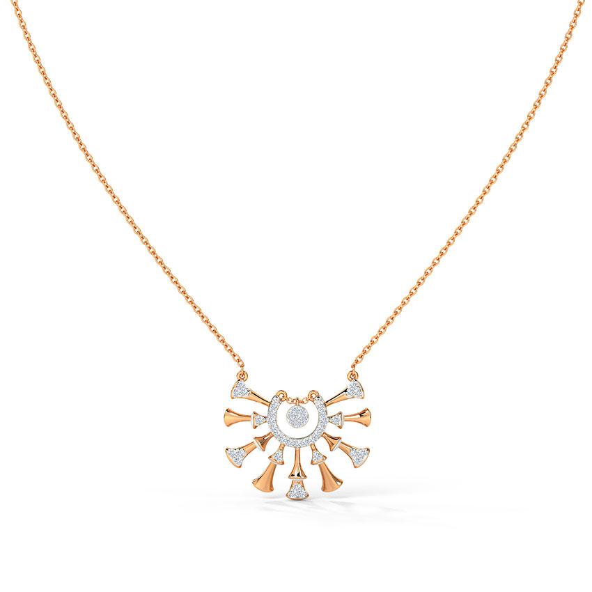 Diamond Necklaces 14 Karat Rose Gold Elinor Diamond Necklace
