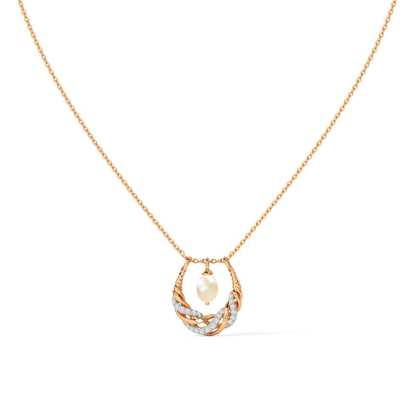 Diamond,Gemstone Necklaces 14 Karat Rose Gold Ainara Diamond Necklace