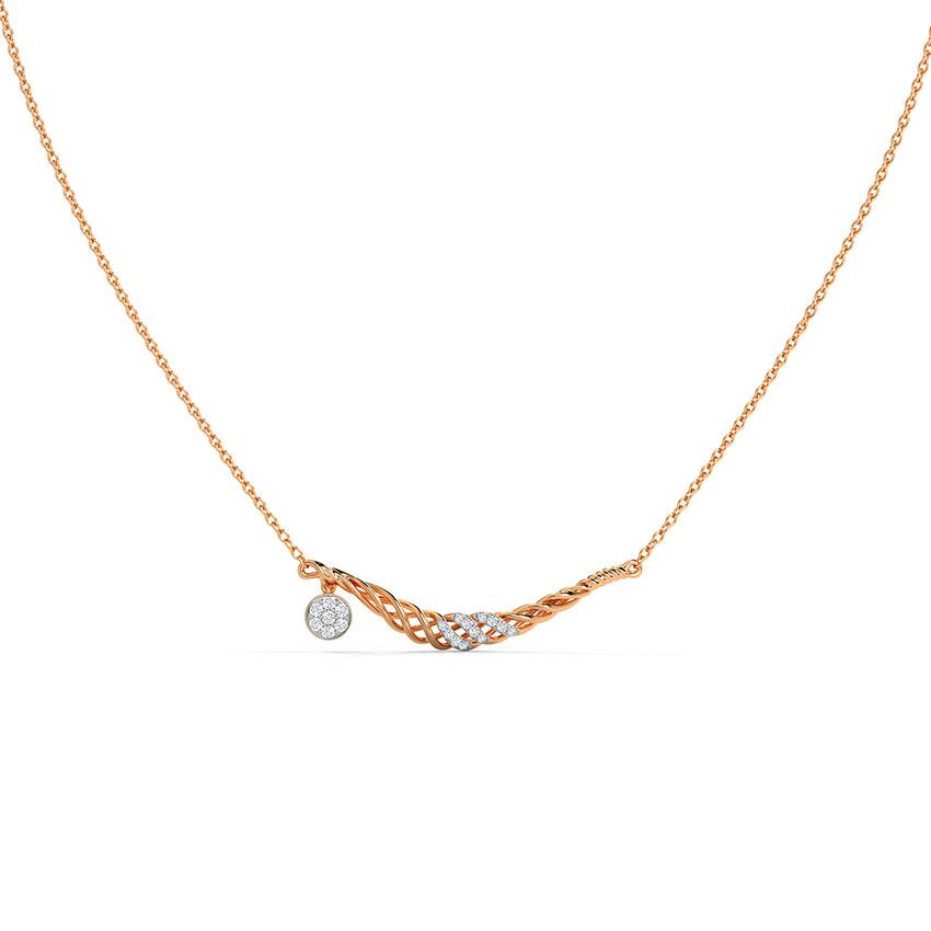 Diamond Necklaces 14 Karat Rose Gold  Dasia Diamond Necklace