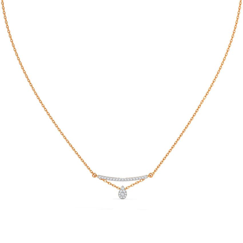 Diamond Necklaces 14 Karat Rose Gold Absolute Classic Diamond Necklace