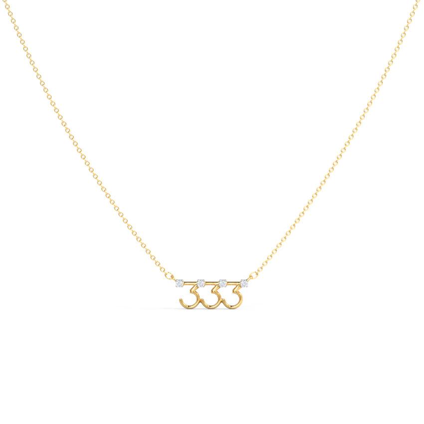 Diamond Necklaces 14 Karat Yellow Gold Flourishing Diamond Necklace