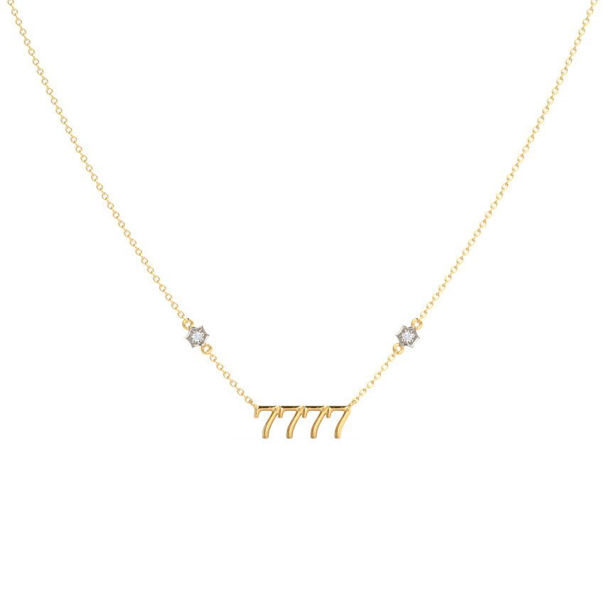 Diamond Necklaces 14 Karat Yellow Gold Wisdom Diamond Necklace
