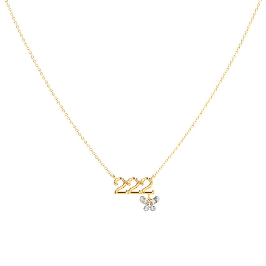 Diamond Necklaces 14 Karat Yellow Gold Rejuvenate Diamond Necklace