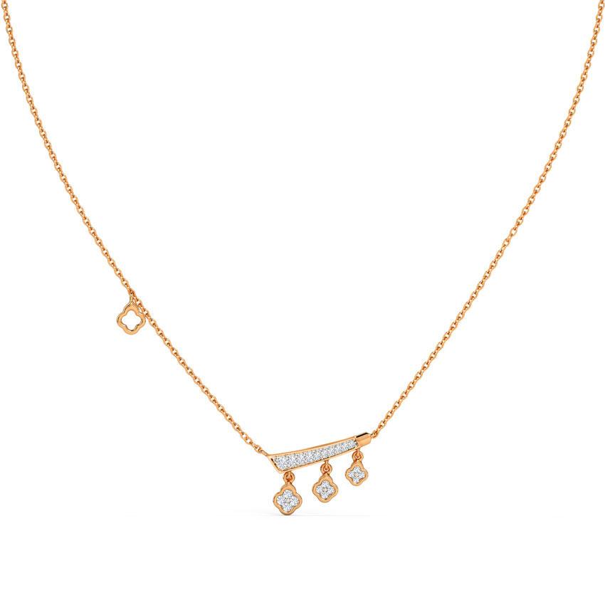 Diamond Necklaces 14 Karat Rose Gold Elliana Petite Diamond Necklace
