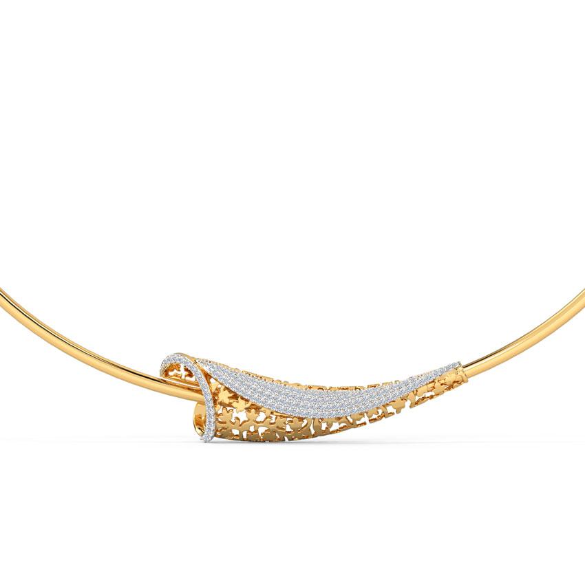 Diamond Necklaces 14 Karat Yellow Gold Naira Diamond Necklace