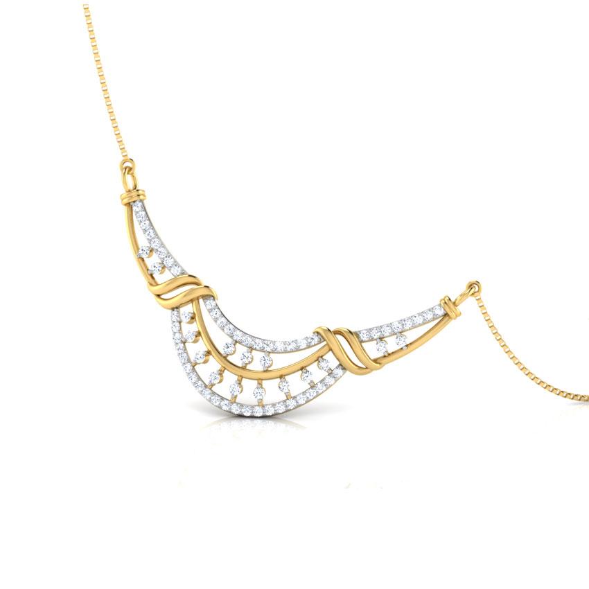 Diamond Tanmaniya 18 Karat Yellow Gold Dhriti Diamond Tanmaniya