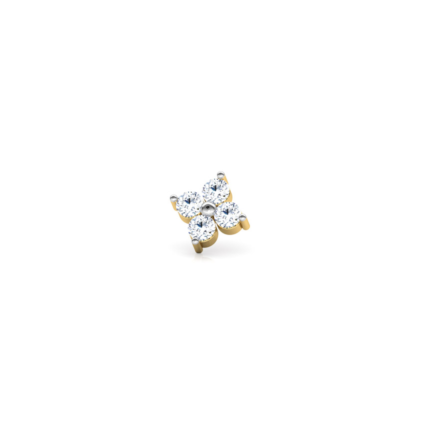 Flora Diamond Nose Pin