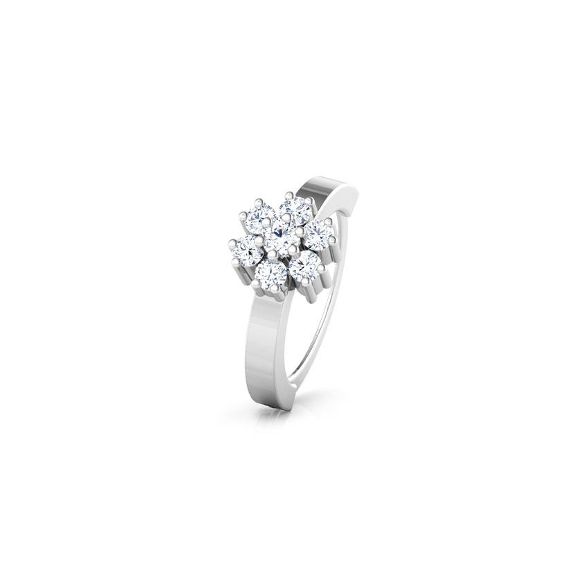 Diamond Nose pin 14 Karat White Gold Kamna Diamond Nose Ring