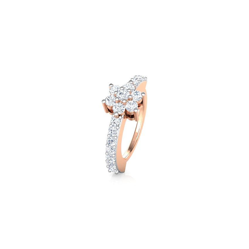 Diamond Nose pin 14 Karat Rose Gold Kalindi Diamond Nose Ring