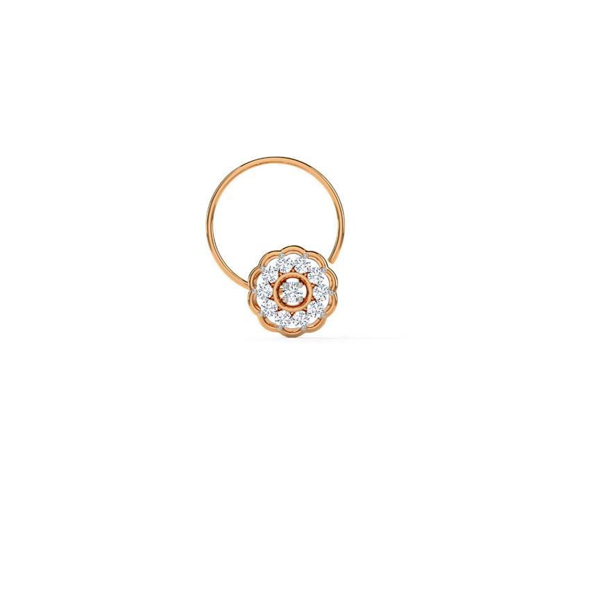 Diamond Nose pin 14 Karat Rose Gold Keya Diamond Nose Pin