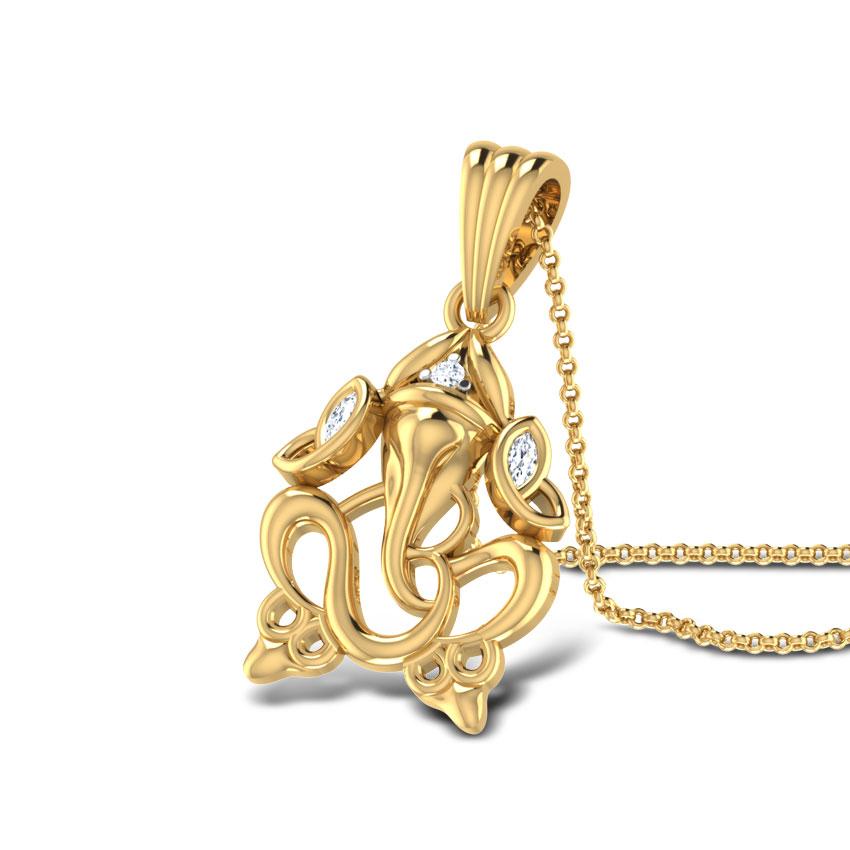 Divine ganesha pendant jewellery india online caratlane aloadofball Choice Image