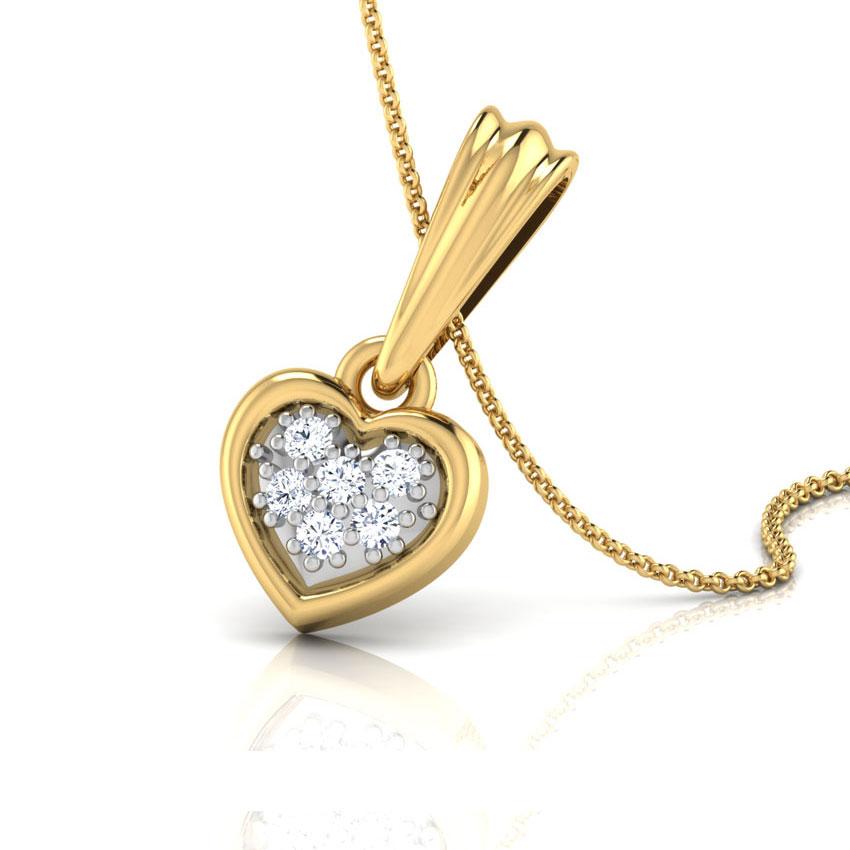 Diamond Pendants 18 Karat Yellow Gold Sweetheart Diamond Pendant