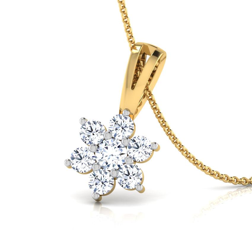 Platinum,Diamond Pendants Platinum 950 Platinum Classic Seven-Stone Diamond Pendant