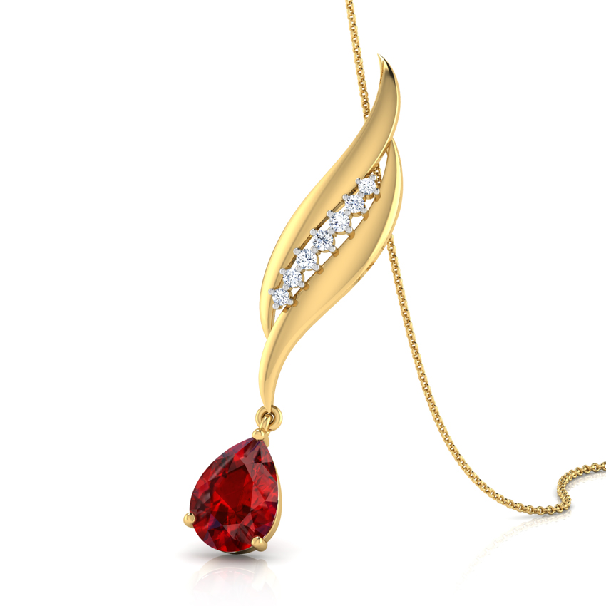 Flame Garnet Pendant