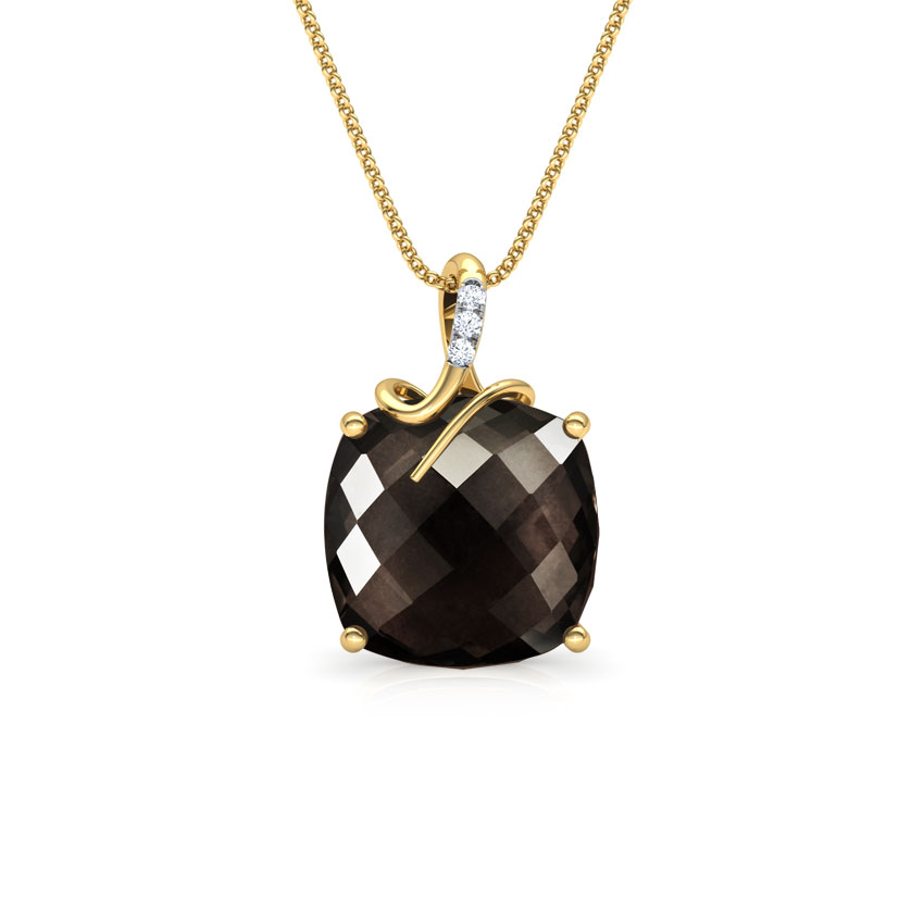 Checkered Cushion Pendant