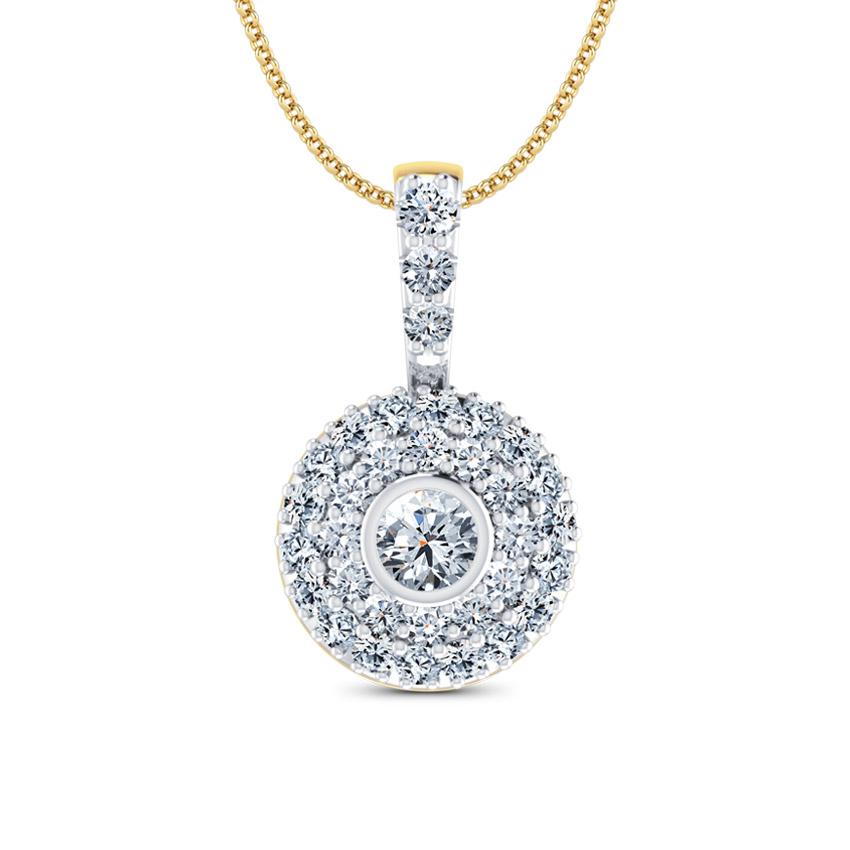 Diamond Pendants 18 Karat Yellow Gold Galaxy Diamond Pendant