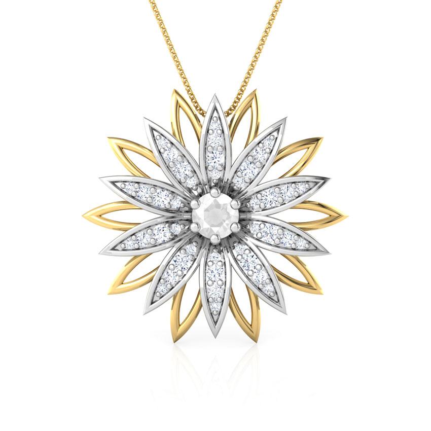 Diamond pendants buy diamond pendant designs online at best sunflower pendant sunflower pendant aloadofball Images