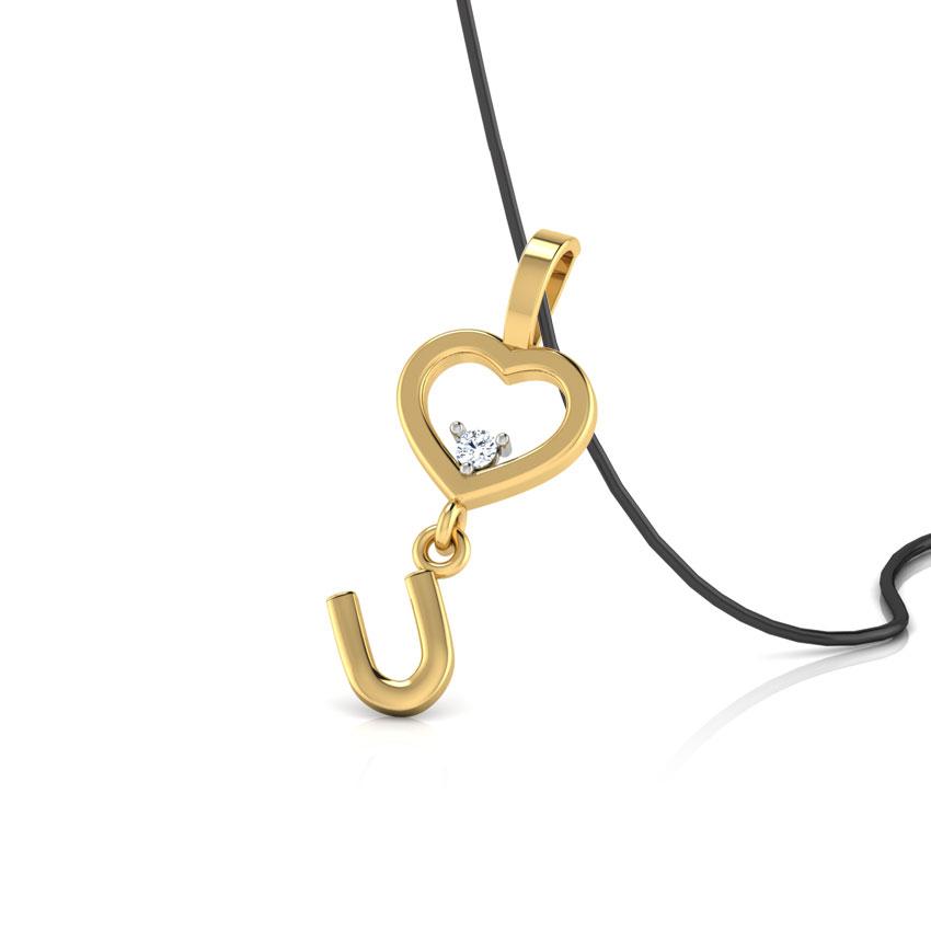 Diamond Pendants 18 Karat Yellow Gold Token of Love Diamond pendant