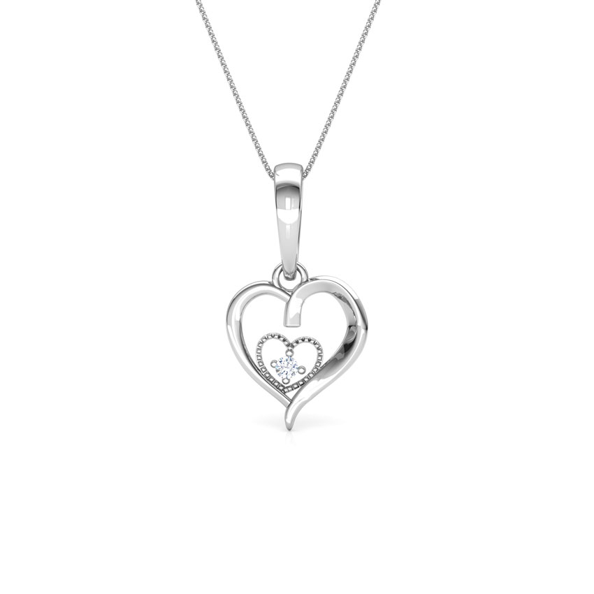 Aroha Gold Pendant in 14KT White Gold