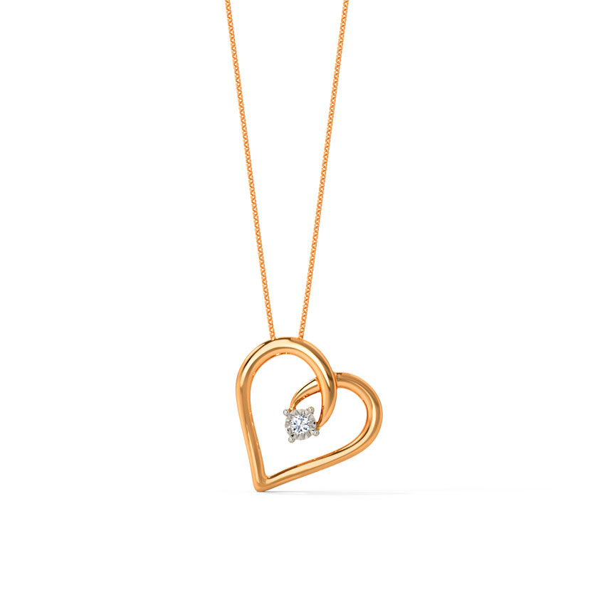 Amanda  Gold Pendant in 14KT Rose Gold