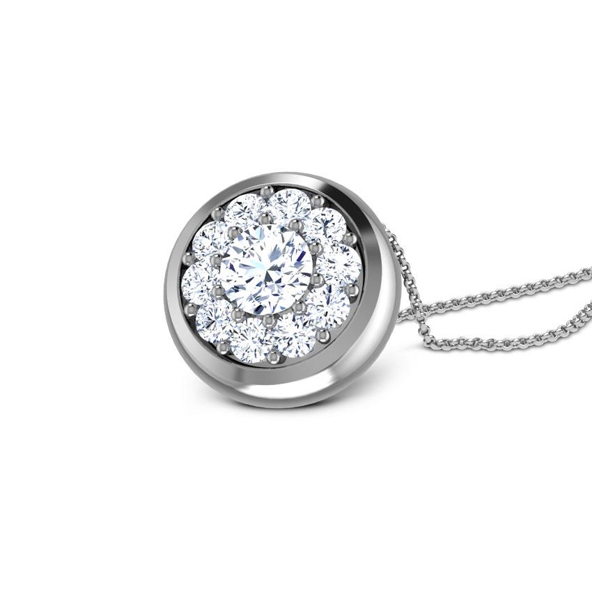Diamond Pendants 18 Karat Yellow Gold Halo Dream Diamond Pendant