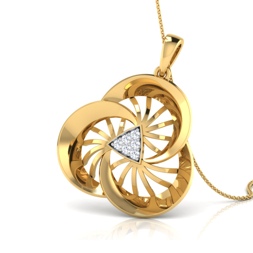 Wheeling Diamond Pendant
