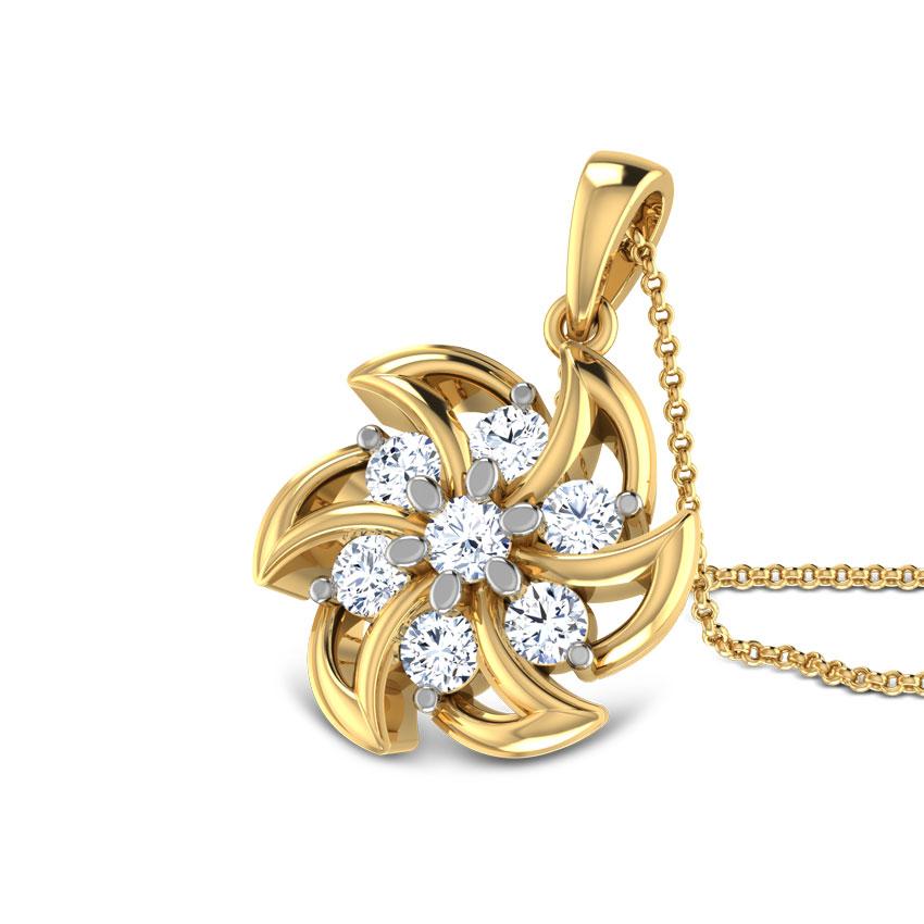 Diamond Pendants 18 Karat Yellow Gold Starfish Diamond Pendant