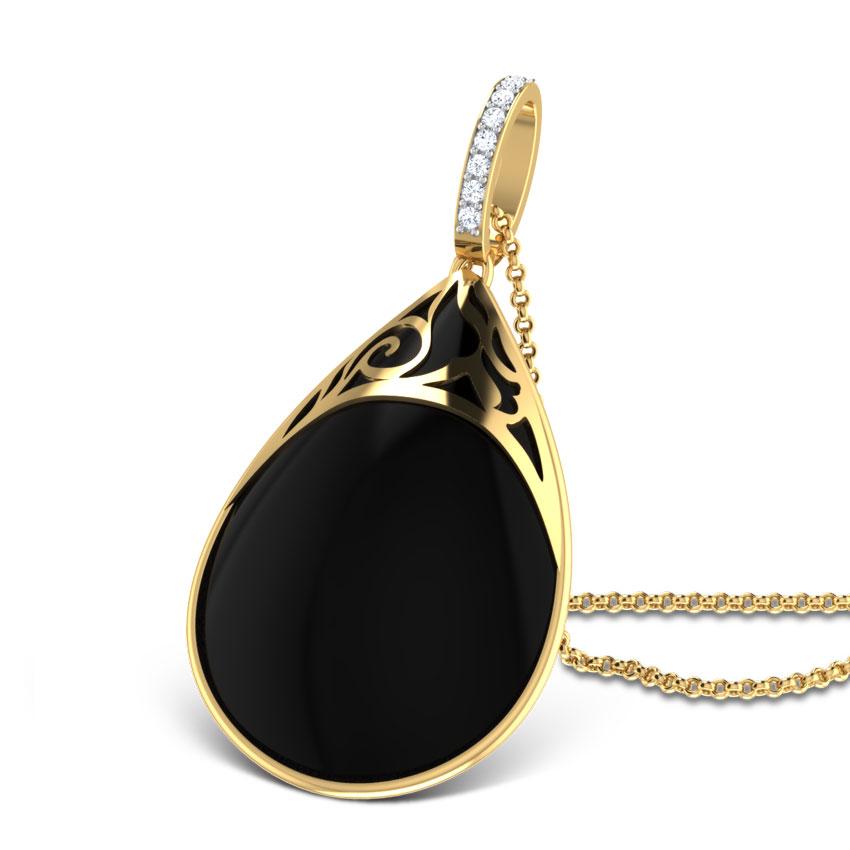 Midnight Black Onyx Pendant