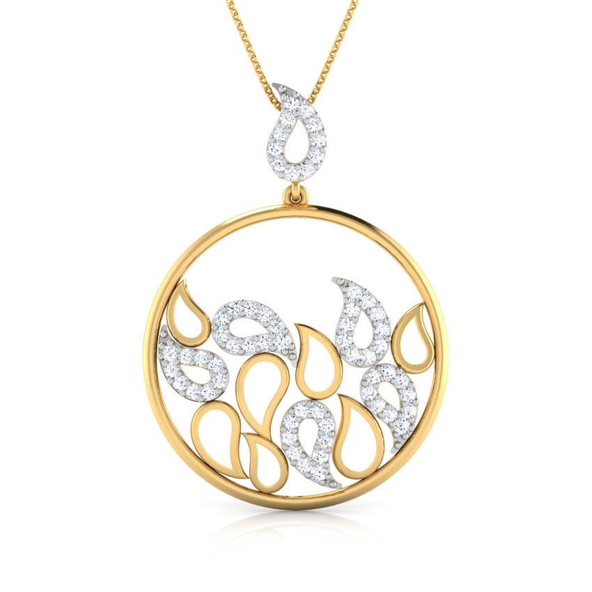 Rizwana Paisley Diamond Pendant