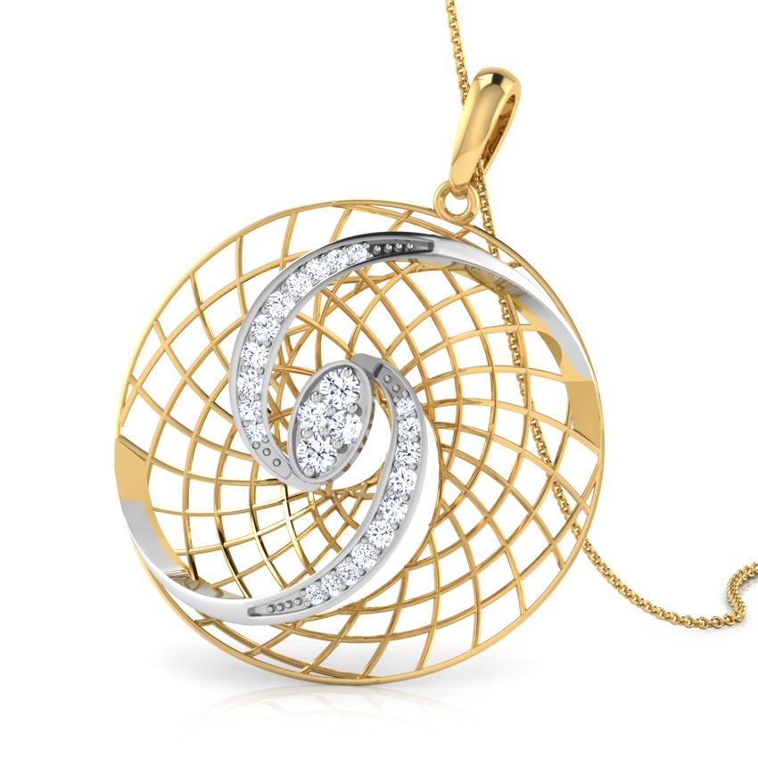 Abra Trellis Diamond Pendant