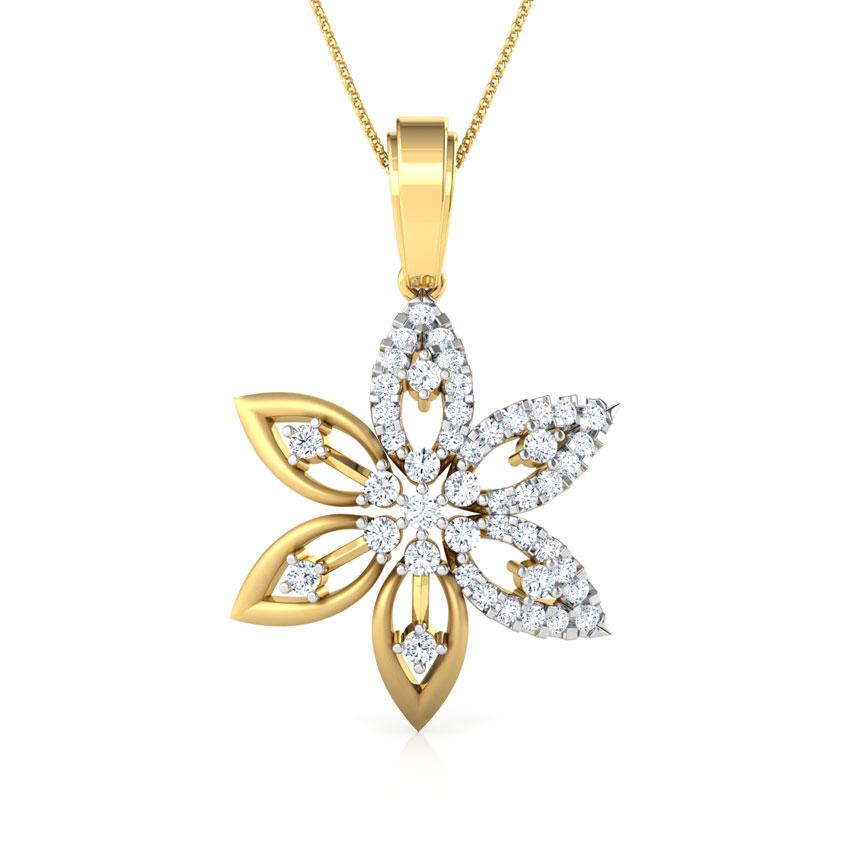 Diamond Pendants 18 Karat Yellow Gold Celina Pendant
