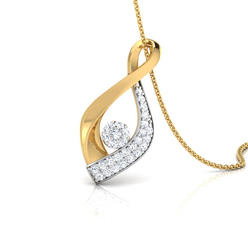 Calla Petalled Diamond Pendant