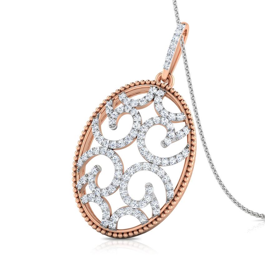 Diamond Pendants 18 Karat Rose Gold Carol Swirl Diamond Pendant