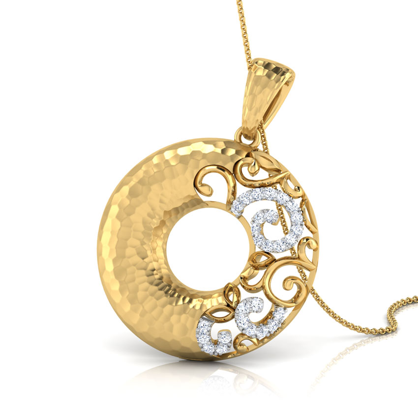 Cora Hammered Rose Gold Pendant
