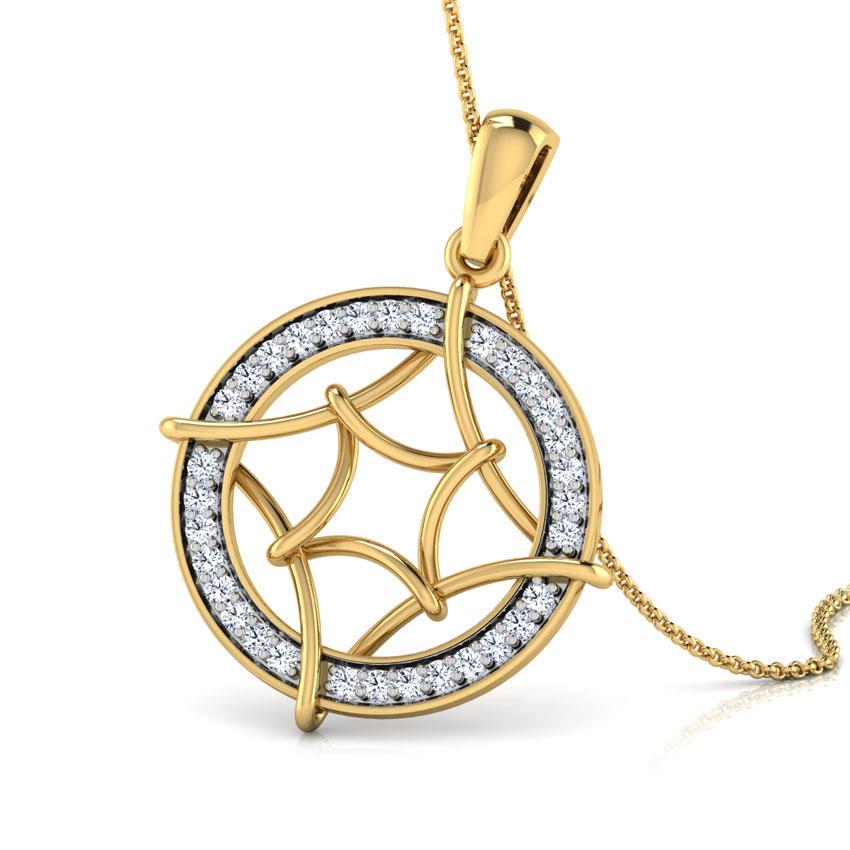 Stacy Looped Diamond Pendant