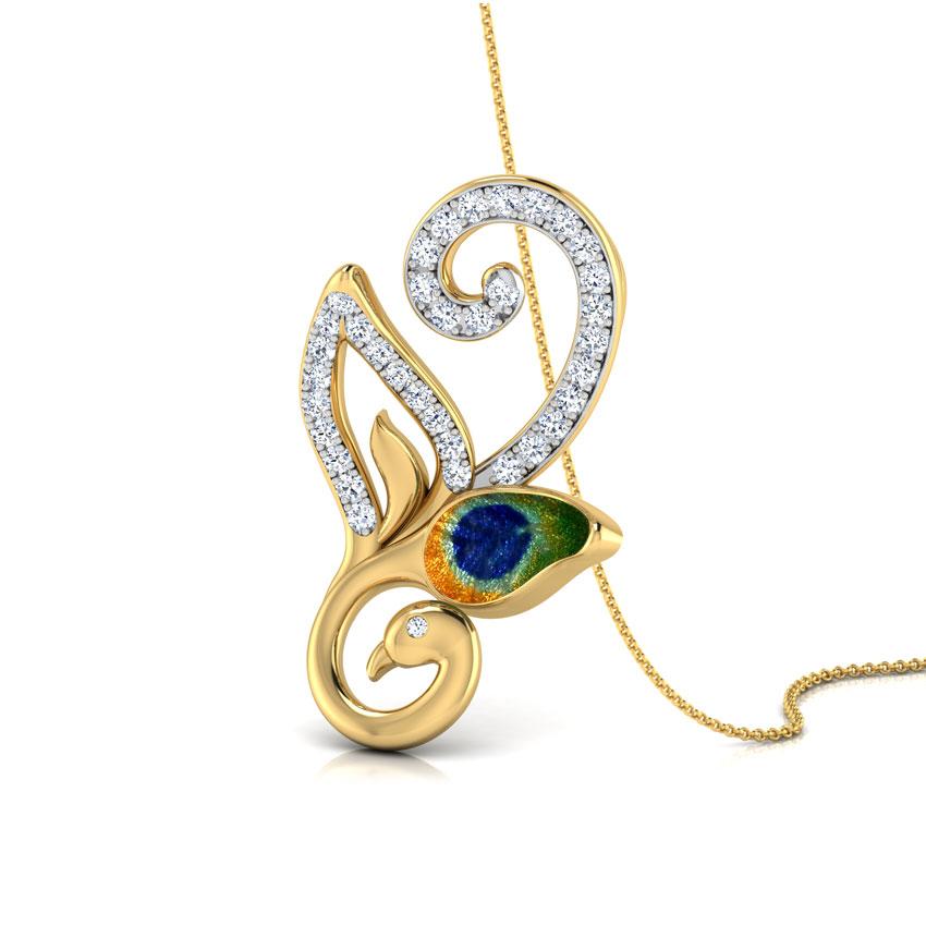 Peacock Loop Pendant