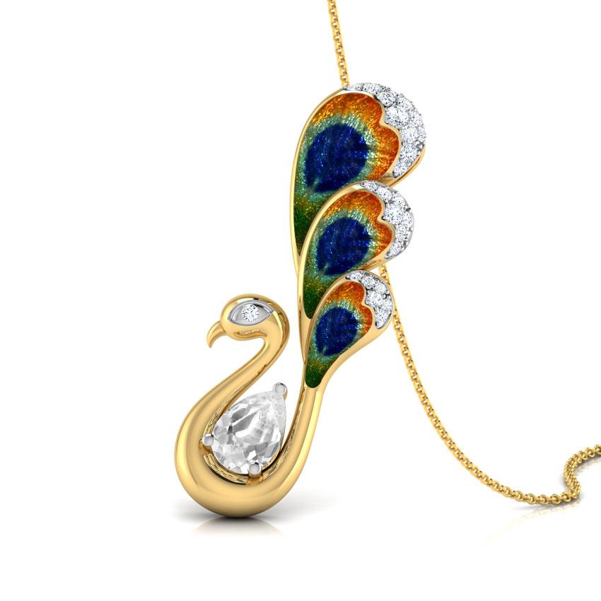 Poise Peacock Pendant