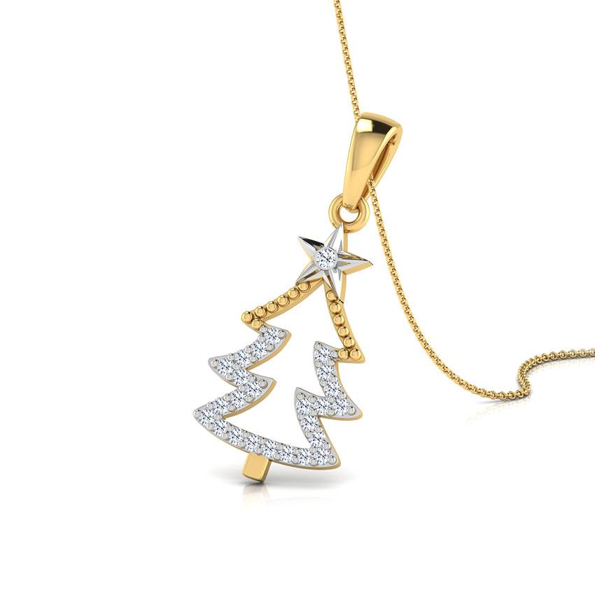 Christmas Diamond Tree Pendant