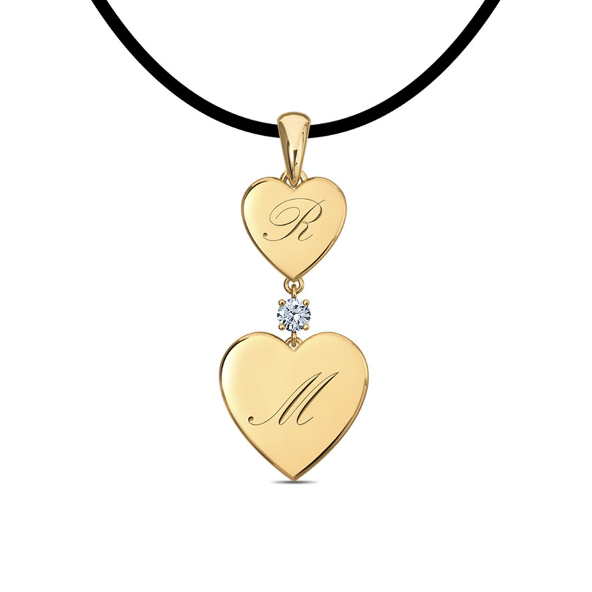 Dangling Hearts Personalised Pendant