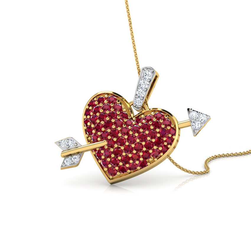 Arrow and Heart Pendant