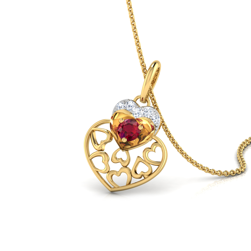 Alluring Ruby Heart Pendant