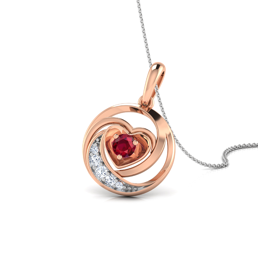 Lovable Ruby Heart Pendant