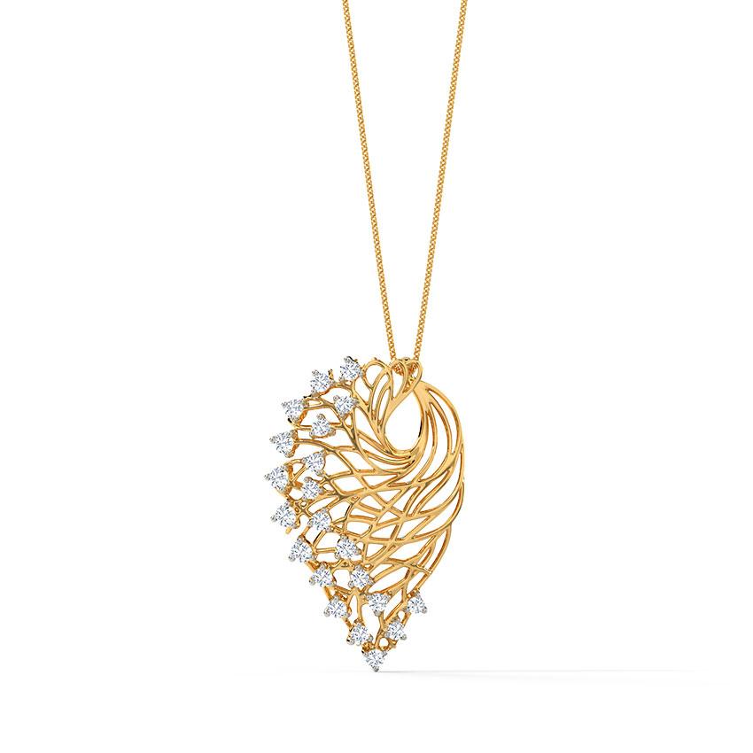 Alder Root Diamond Pendant