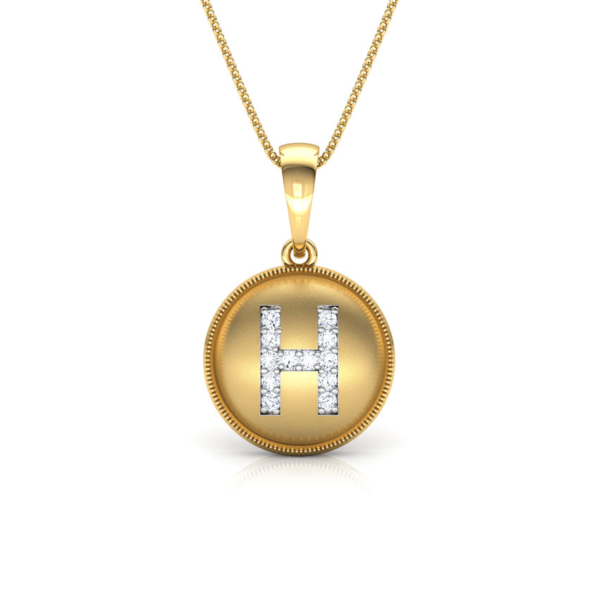 Alphabet H Pendant